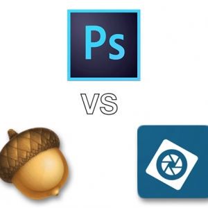 Adobe Photoshop CC, Acorn, Adobe Photoshop Elements 13, image editors