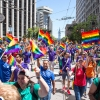 Apple marches in SF Pride parade. Look at all the color!