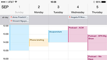 Calendar on the iPhone and iPad is much cleaner now