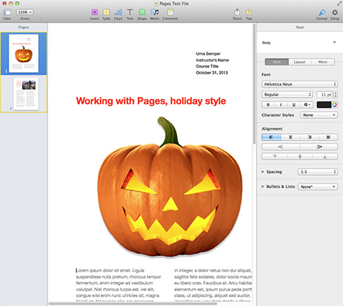 Pages 5.0 for the Mac: Familiar, yet different