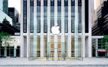 Architectural rendering of Apple's redesigned Fifth Ave Store