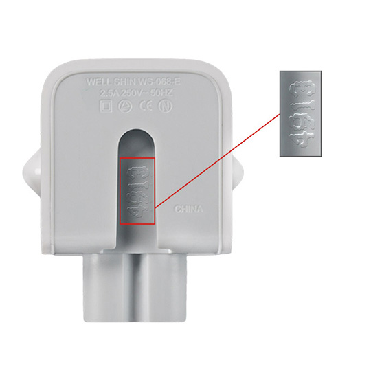 Adapters with markings like this are included in the voluntary recall