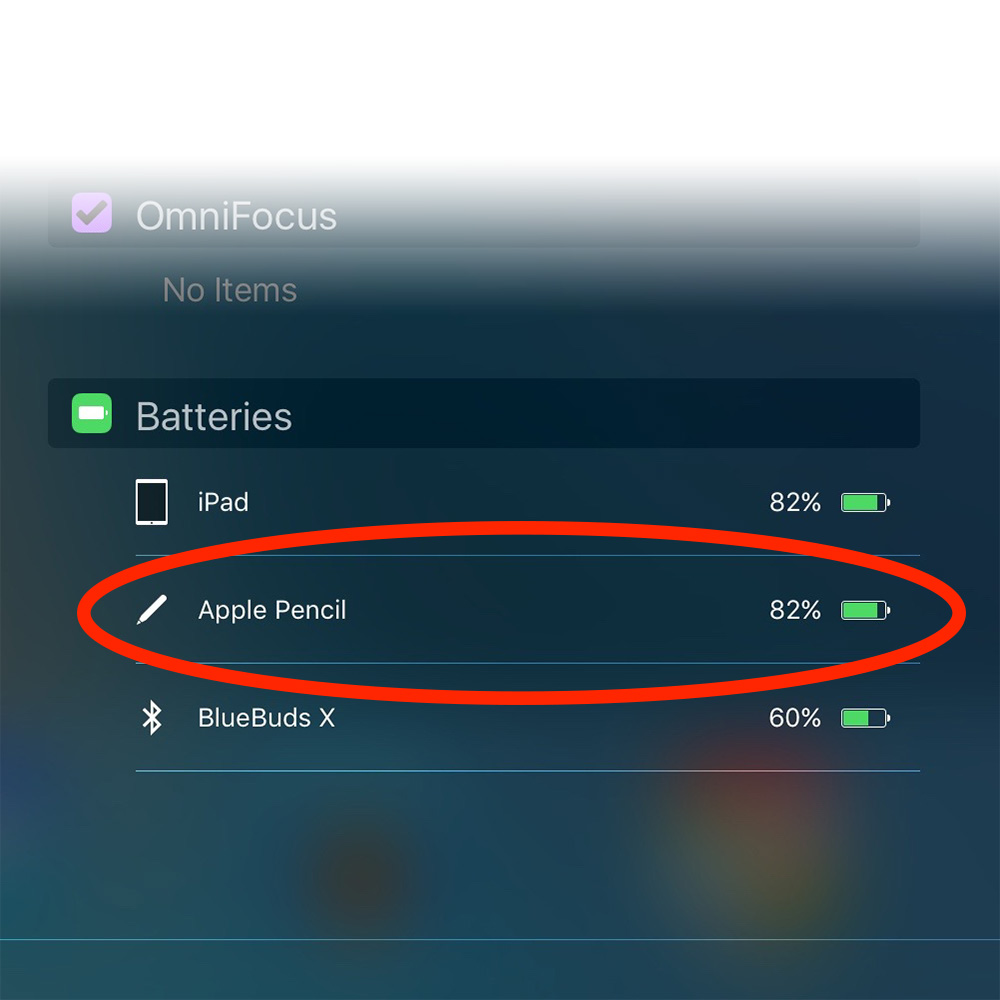 My Apple Pencil battery is still going strong with an 82% charge
