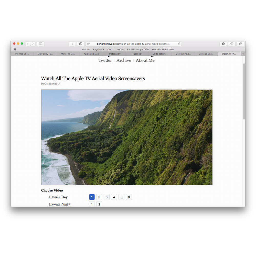 How to See Every Apple TV Video Screensaver