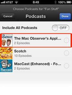 Podcasts 1.2 lets you make your own custom stations
