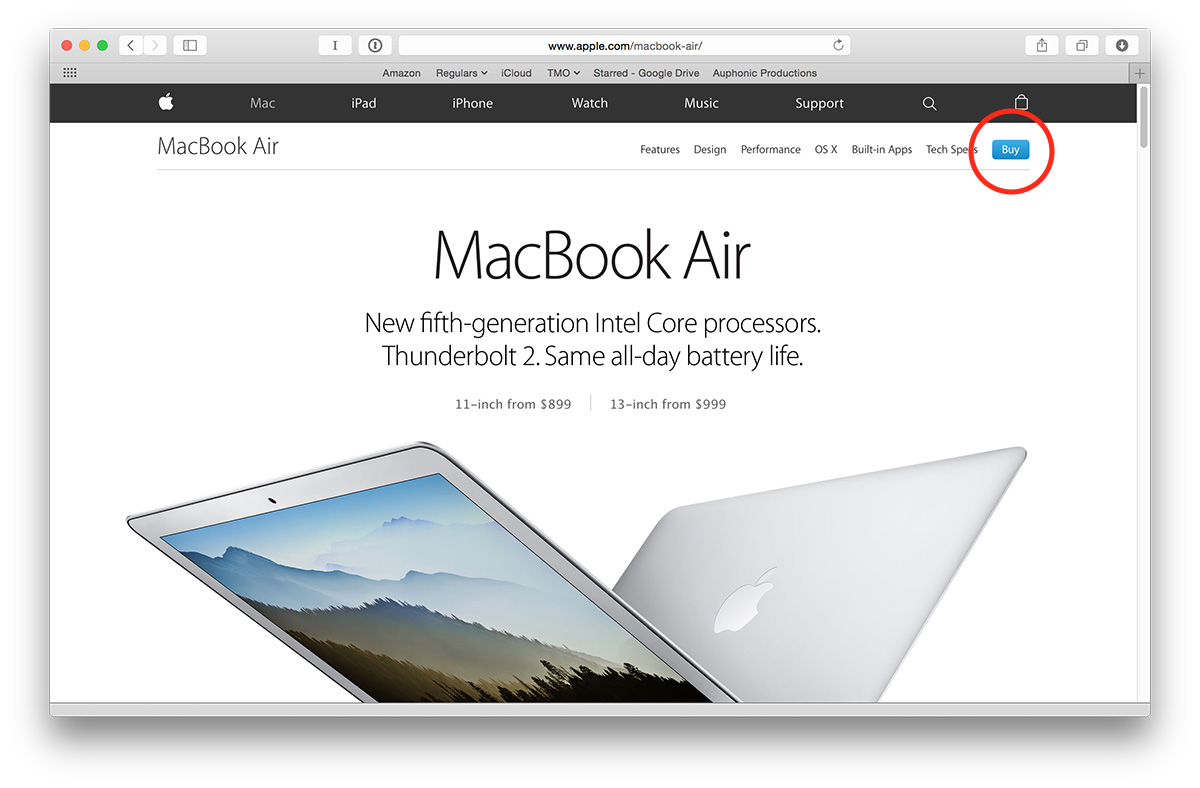 No more Apple Store site! Look for the Buy buttons on product pages.
