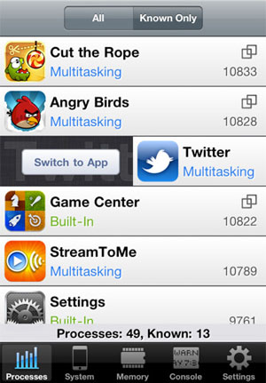SwitchApp Screenshot