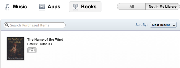 Purchased feature in iTunes 10.3