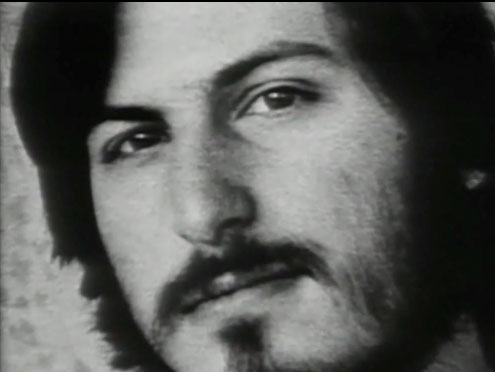 Steve Jobs, a frame from The Lost Interview