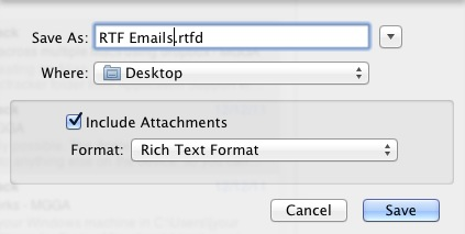 Save Email as Rich Text