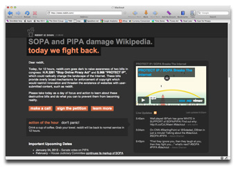 Reddit opposes SOPA and PIPA, too