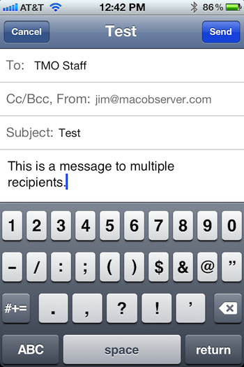 iOS Mailing List Workaround