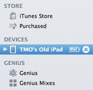 Rename iDevice in iTunes