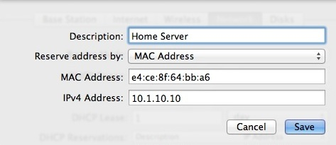 Create a DHCP Reservation