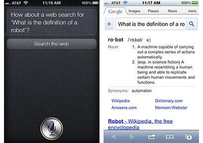 Siri needs an extra tap to search the Web