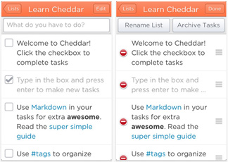 Organize yourself with Cheddar for iOS