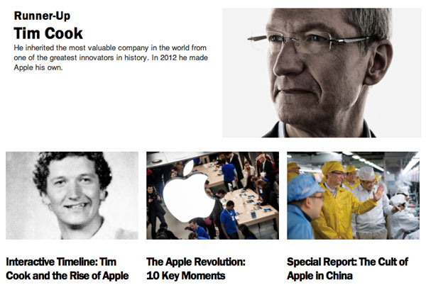 Time's Tim Cook Layout