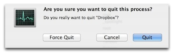 Quit vs Force Quit Activity Monitor Mac OS X