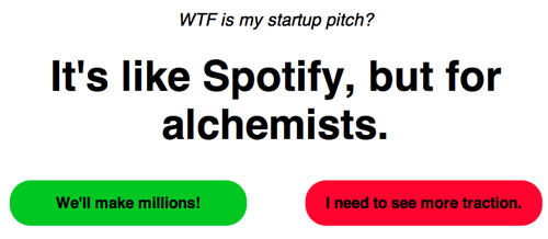 Fun with Startup Pitches