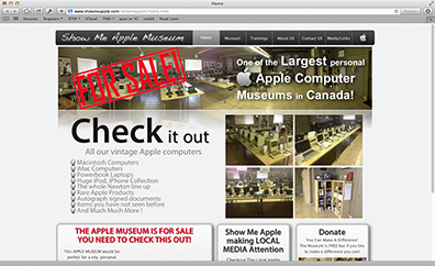 Giant Apple Gear Museum in Canada for Sale