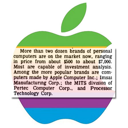 Apple's First WSJ Mention: Just Three Words in 1978