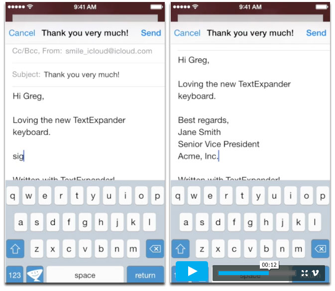 Text Expander iOS 8 Keyboard Replacement Goes to Public Beta