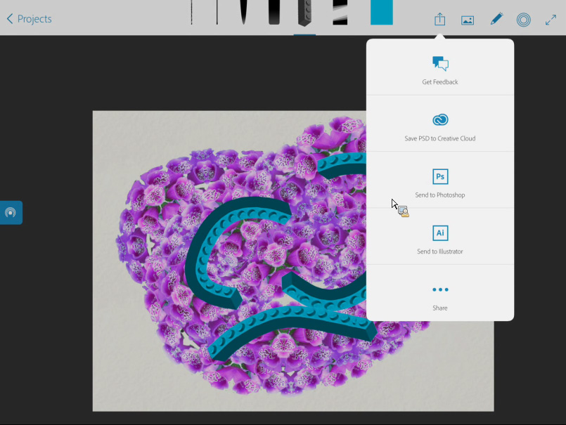 Adobe's new Brush app turns your photos into Illustrator and Photoshop brushes
