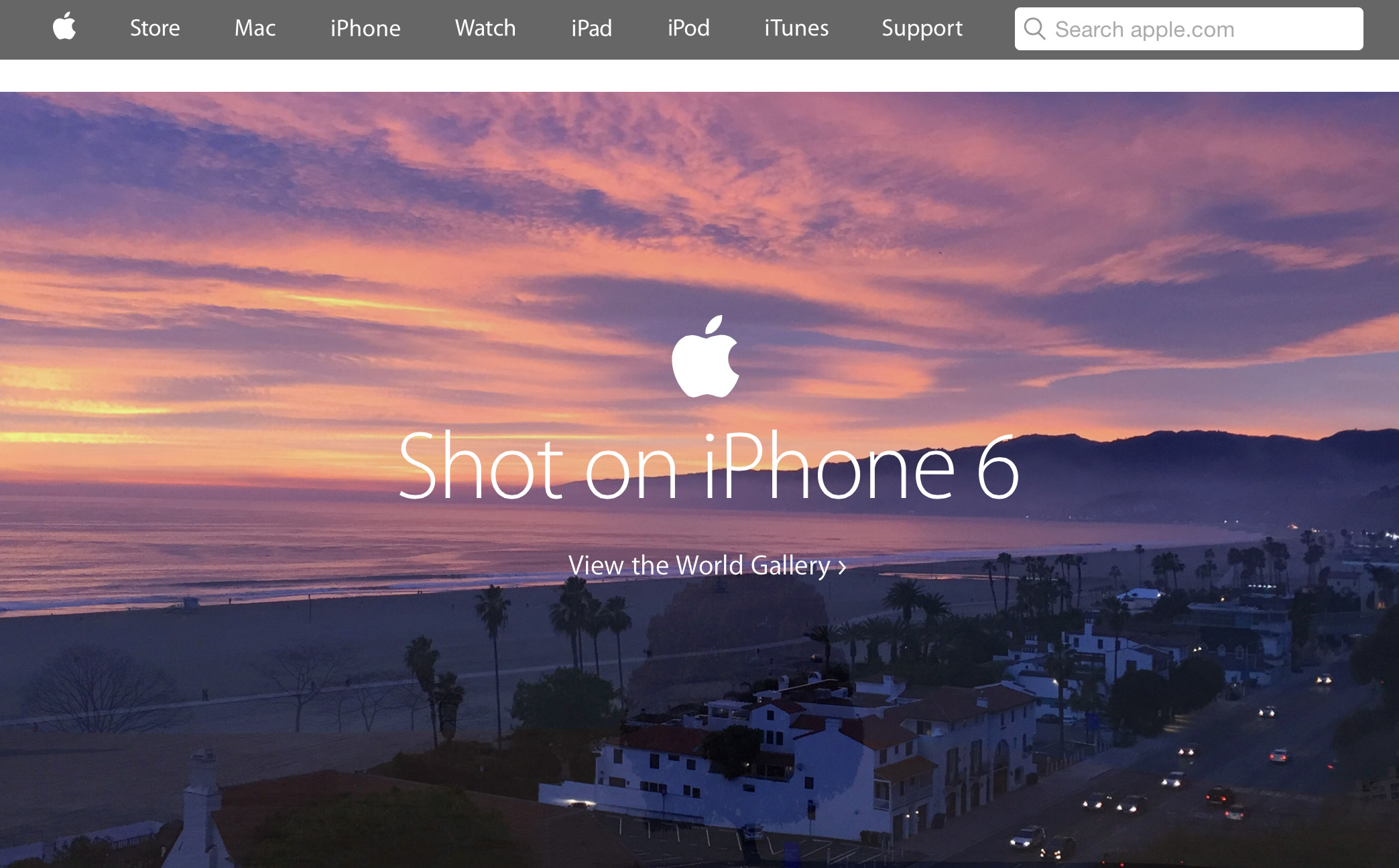 Apple.com with Search