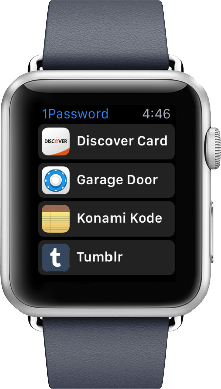 1Password's Apple Watch app gives you quick access to passcode and more