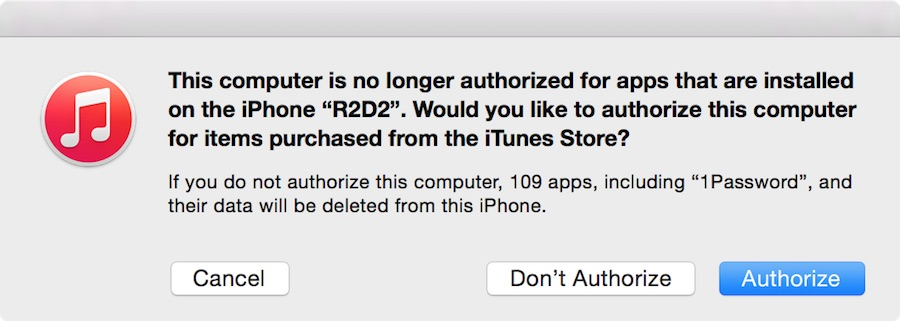 Maxed out authorized machines in iTunes