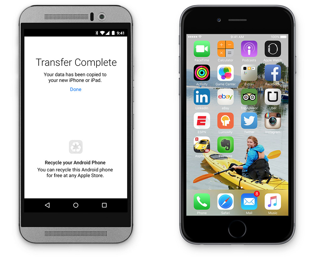 iOS 9 makes it easier to move from Android smartphones to iPhone