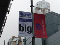 View of Macworld and SF banners, and The View