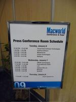 Press Conference Room Schedule