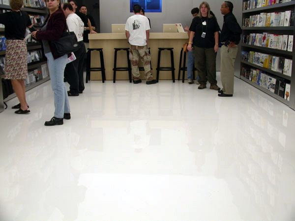 Shiny, shiny floor.