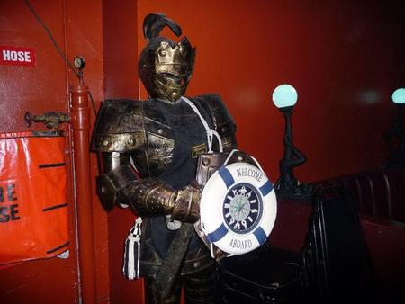 We're really not sure why this suit armour was around.