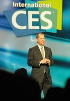 Gary Shapiro, president and CEO of Consumer Electronics Association, giving a bizarre introduction of Steve Ballmer.