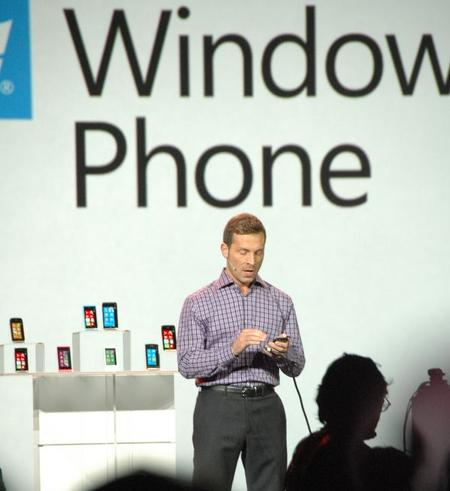 Derek Snyder showing new phones.