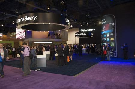 "The BlacKBerry booth wasn't what you might call ""hoppin'."""
