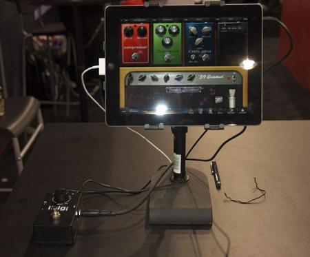IK Multimedia showed off the iRig stompbox for Amplitube.