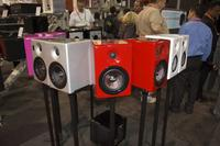 Speakers on display from Earthquake Sound Corp.
