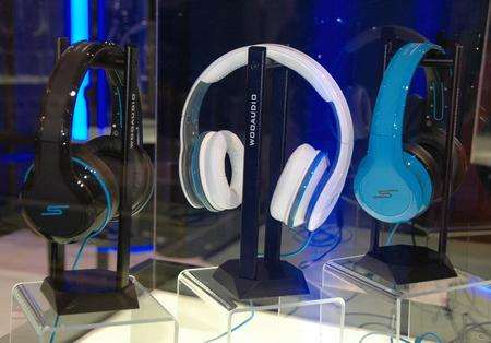 There were lots and lots of headphones on display, including these from Wooaudio.