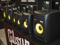 KRK had the Rokit line of reference monitors on display.
