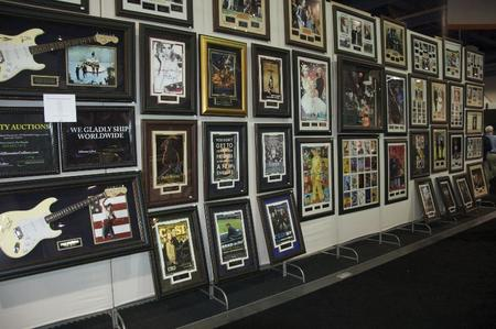 An auction company had an amazing collection of memorabilia on display. This is a small portion of it.