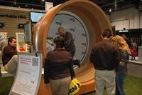NRG was donating to charity for every minute you generated electricity in this giant flywheel. Cool!
