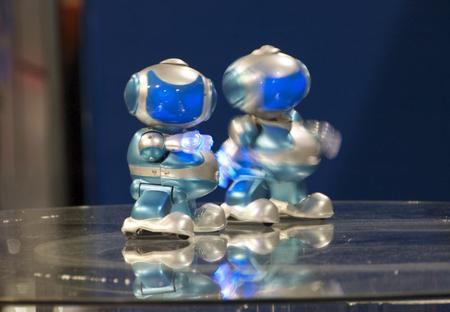 These little robots were dancing to the beat of the music. They were ADORABLE!