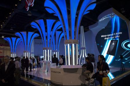 One the more involved booths at CES.