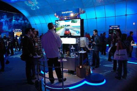 Intel was showing off smartphones, too, including this gaming display.