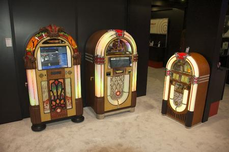 There were also jukeboxes on display.