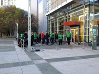 Apple Employees Outside Yerba Buena