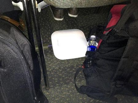 A Wi-Fi Repeater at Dave's Feet
